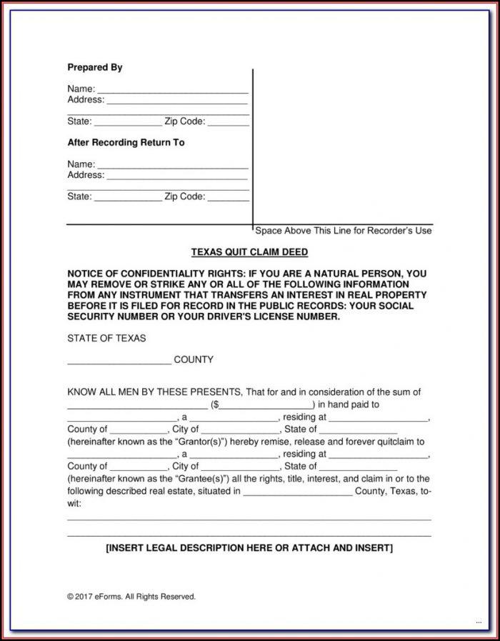 Adams County Colorado Quit Claim Deed Form