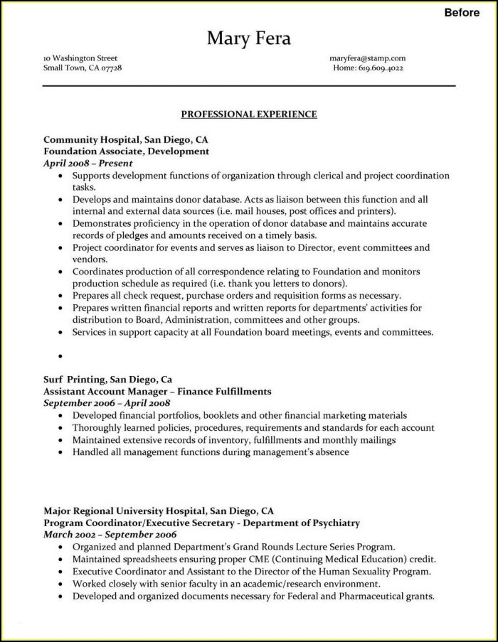 federal resume writers san diego