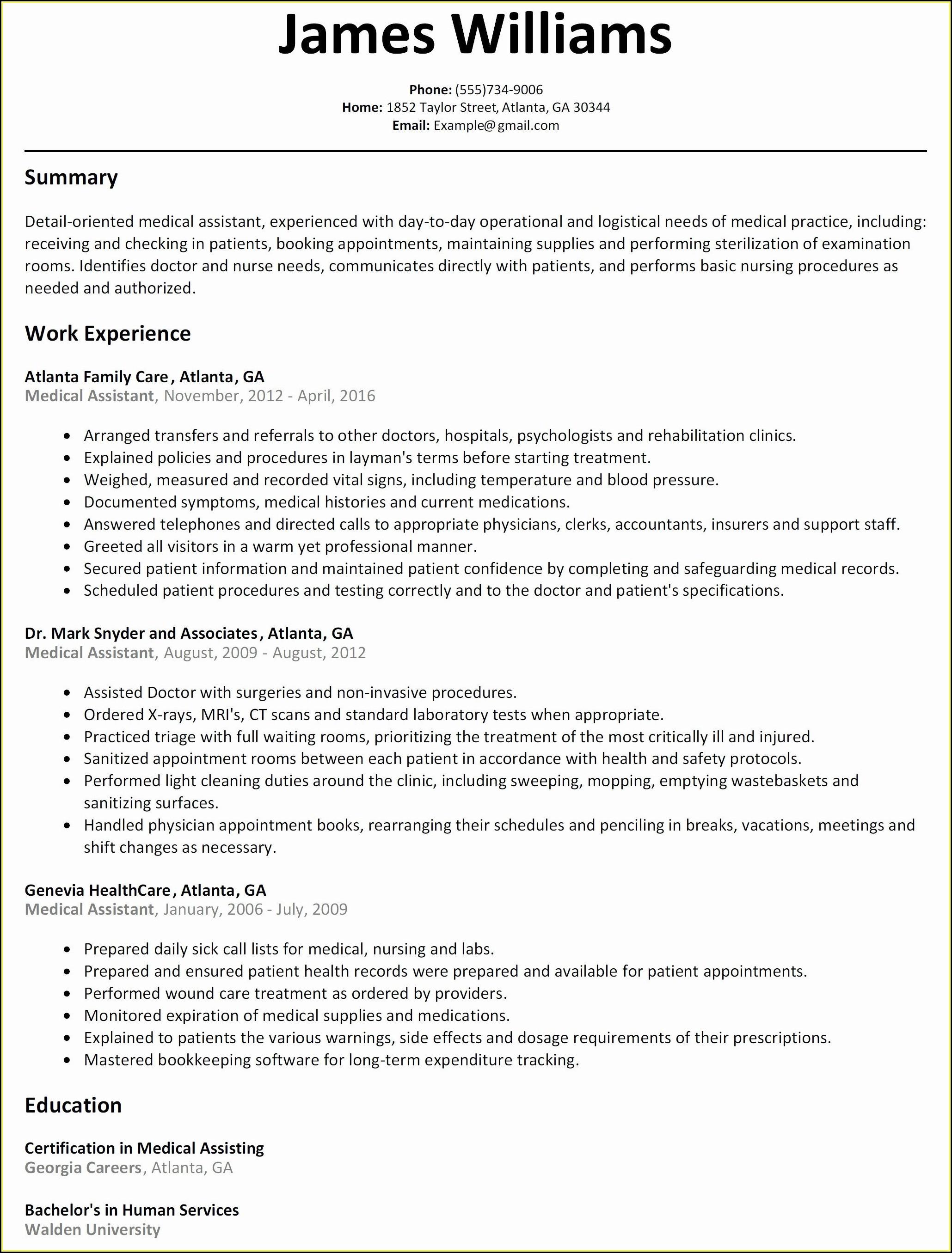 Converting Military Resume To Civilian Resume