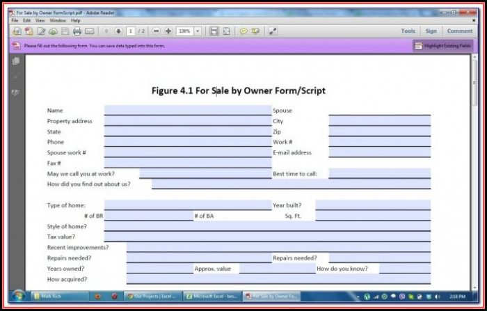 Create Fillable Pdf Form From Excel