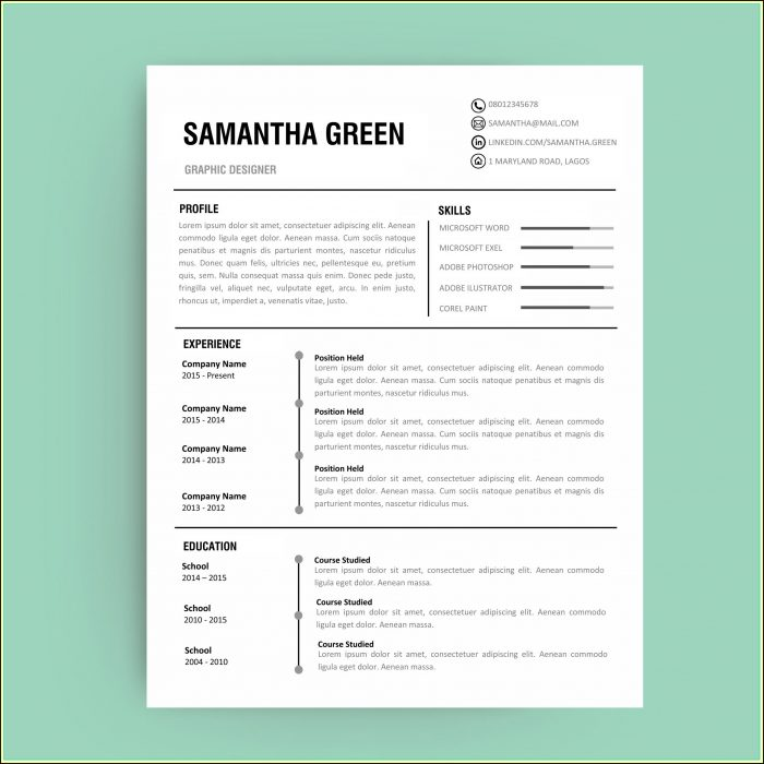 Curriculum Vitae Template Editable