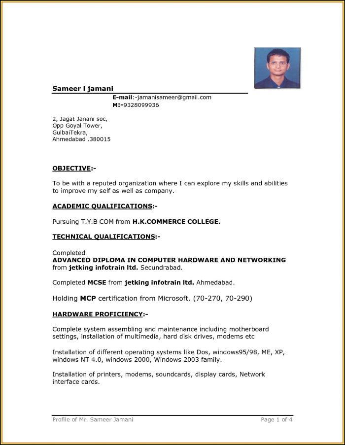 Downloadable Resume Format
