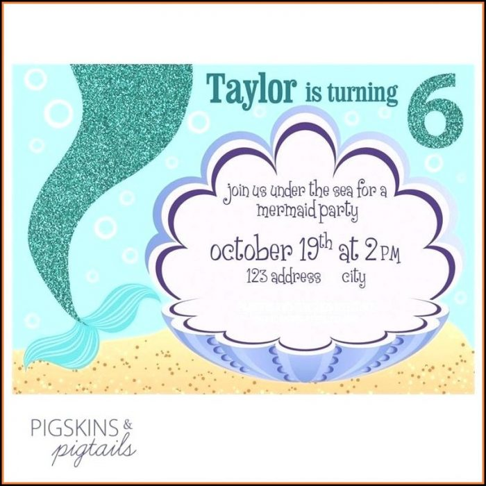 Free Mermaid Party Invitation Templates