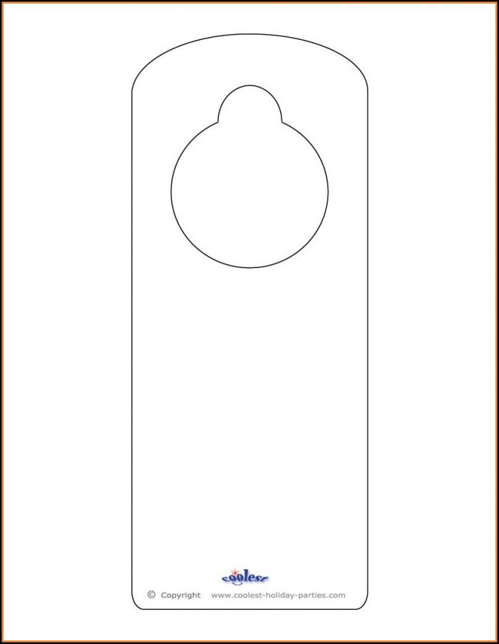 Free Printable Door Hanger Template