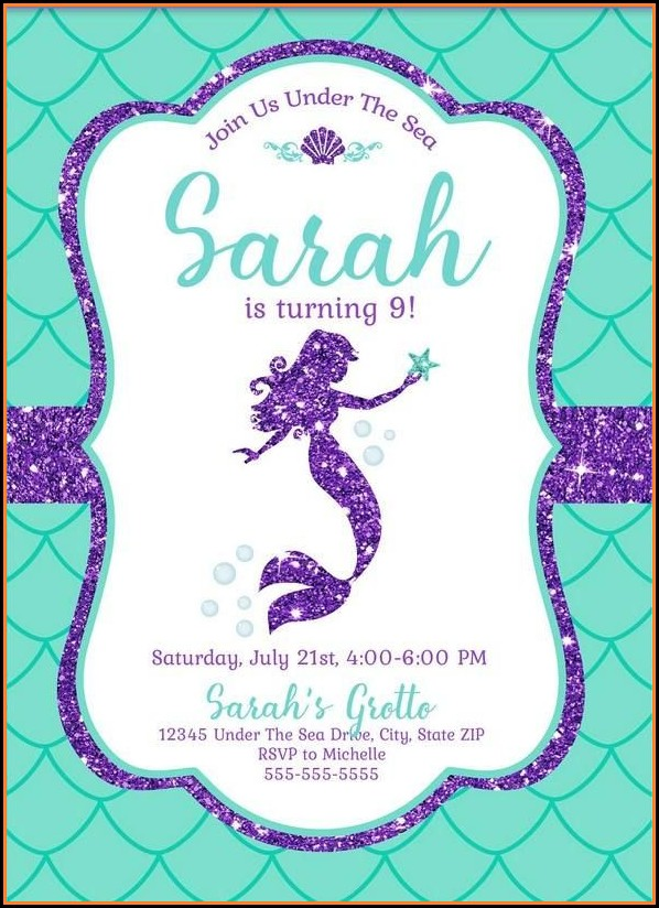 Free Printable Mermaid Invitation Template
