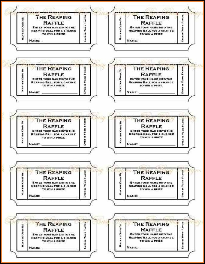 Free Printable Numbered Raffle Ticket Template