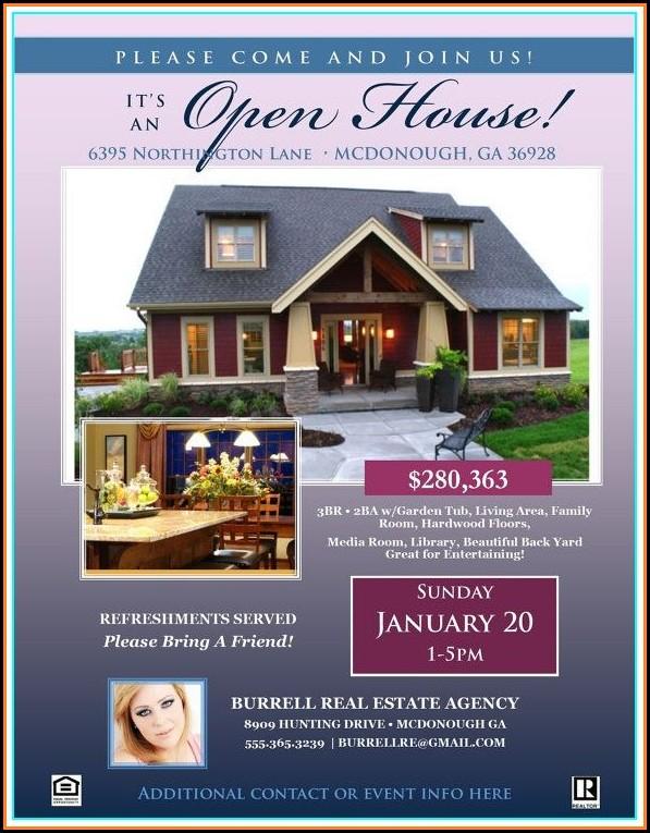 Free Realtor Open House Flyer Template
