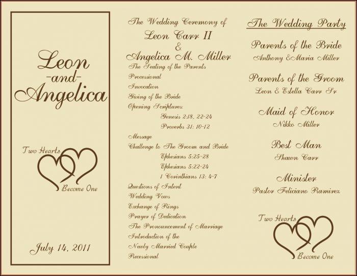 Wedding Fan Programs Templates Free - Template 2 : Resume