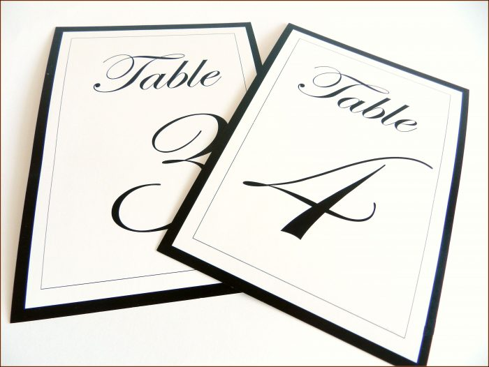Free Table Number Templates With Photos
