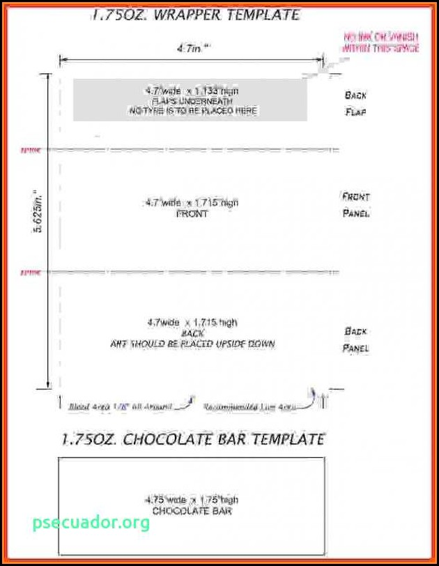 Free Blank Candy Bar Wrapper Template For Word Template