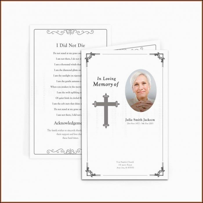 Funeral Announcement Template Free
