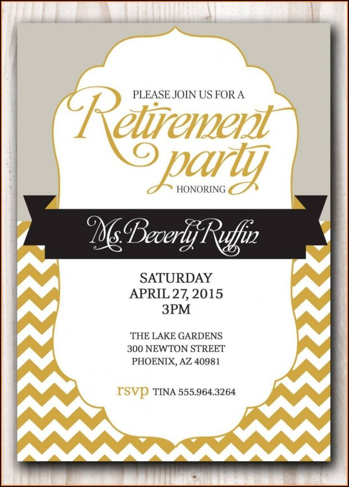 Funny Retirement Invitation Template Free