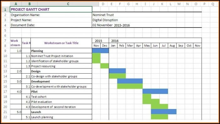 Gantt Chart Excel Template Xls Free