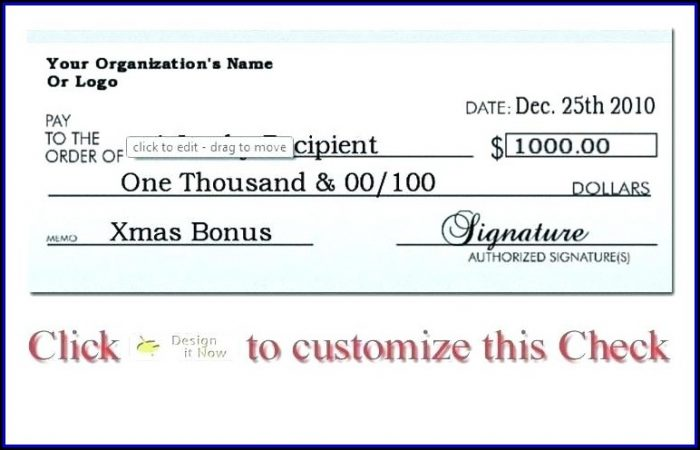 Giant Check Template Download