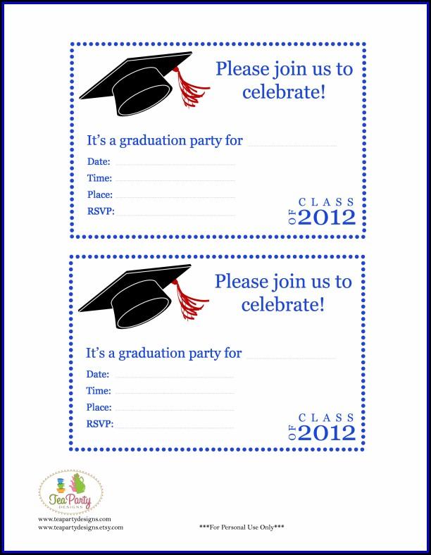 Graduation Party Invitation Template Free