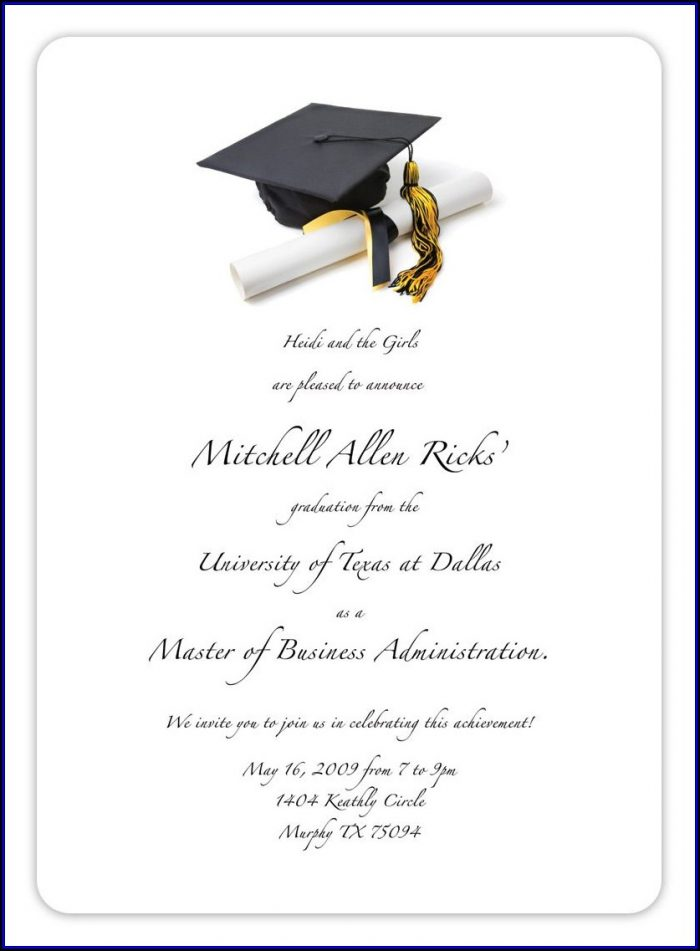 Graduation Party Invitation Templates Free Printable