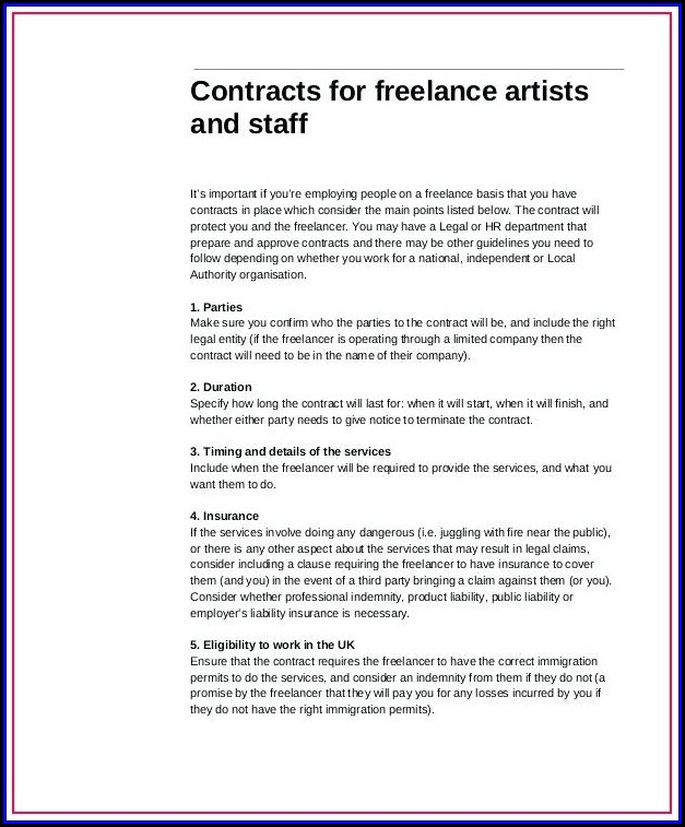 Graphic Design Contract Template Australia