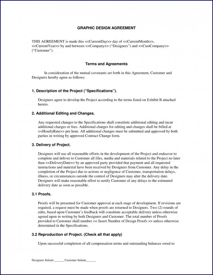 Graphic Design Contract Template Doc