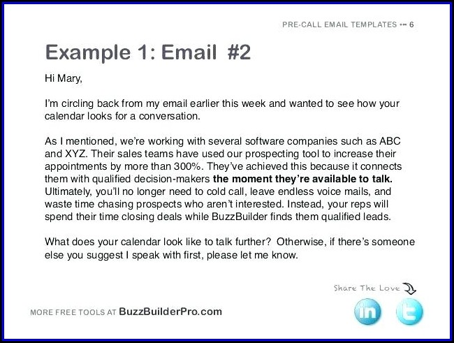 Hotel Sales Prospecting Email Template