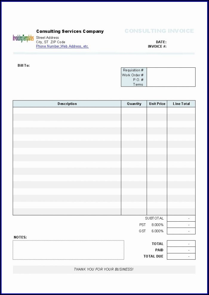 Invoice Template Mac Word