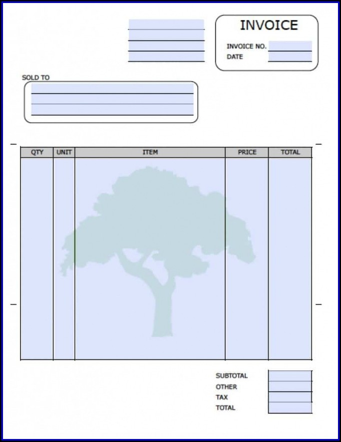 Landscaping Service Invoice Template