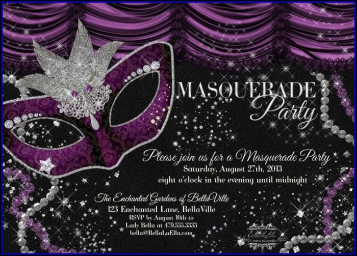 Masquerade Invitations Templates Free