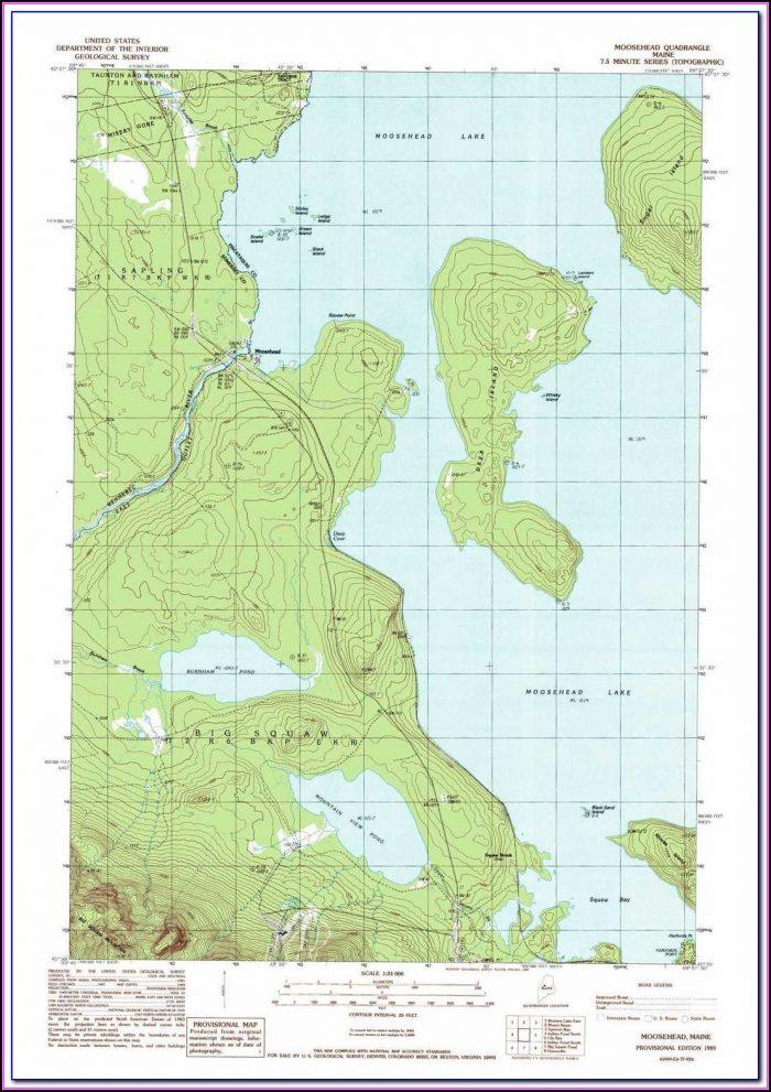 Moosehead Lake Maine Depth Map