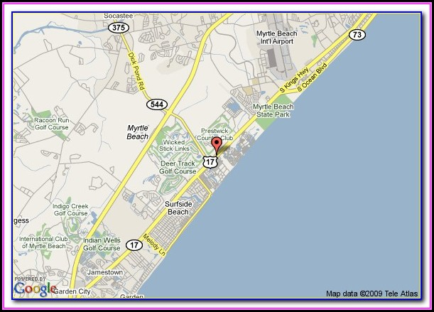 Myrtle Beach Sc Map Of Hotels