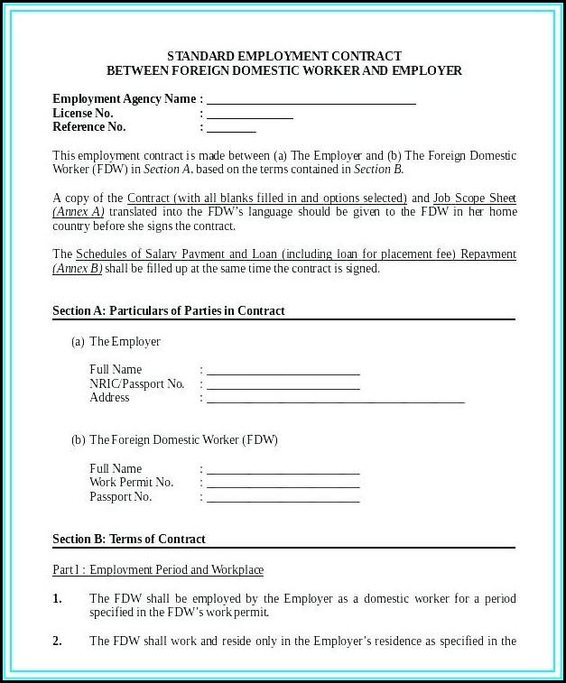 Nanny Contract Template Australia
