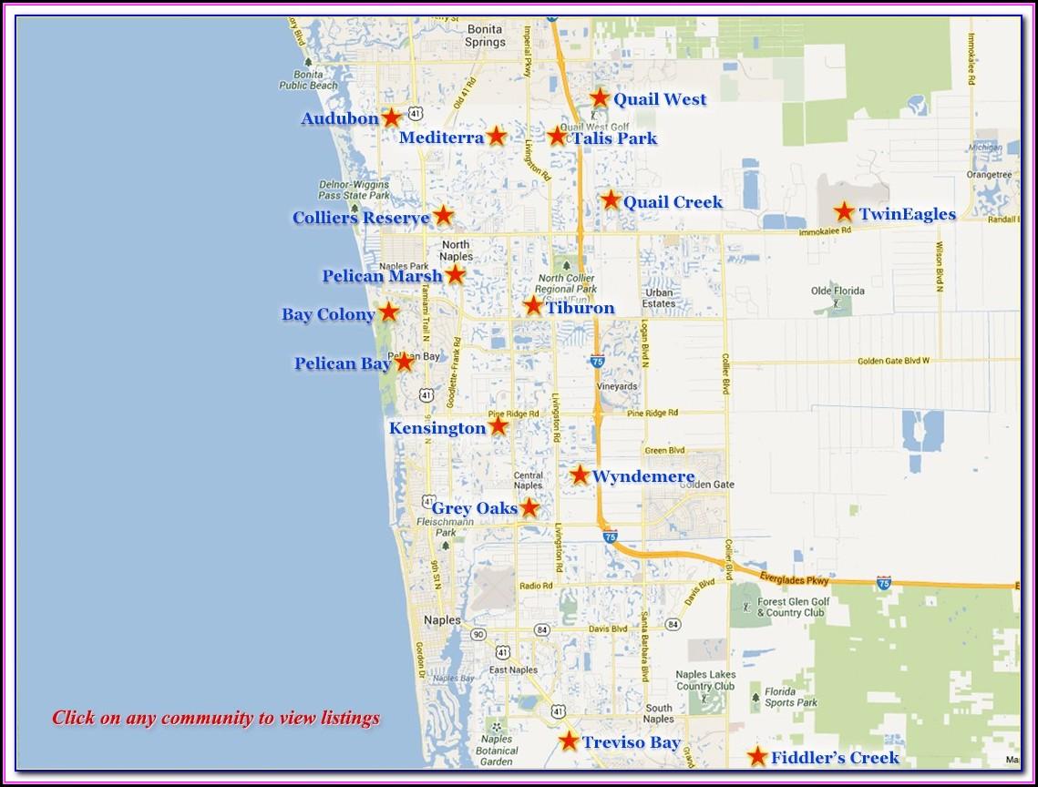 Naples Florida Real Estate Map