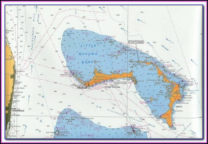 Nautical Map Of The Abacos Bahamas