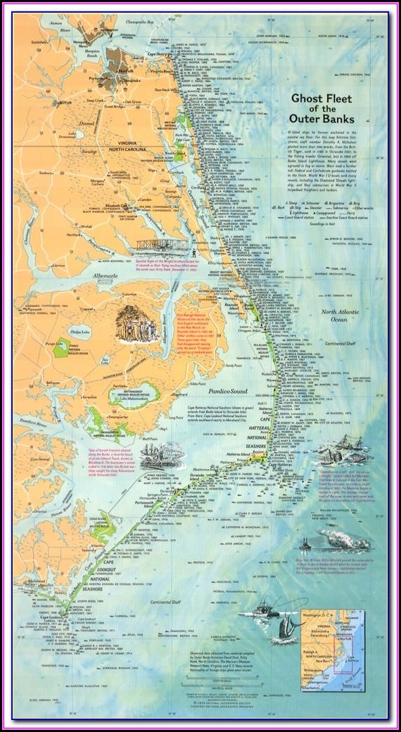 North Carolina Wreck Map