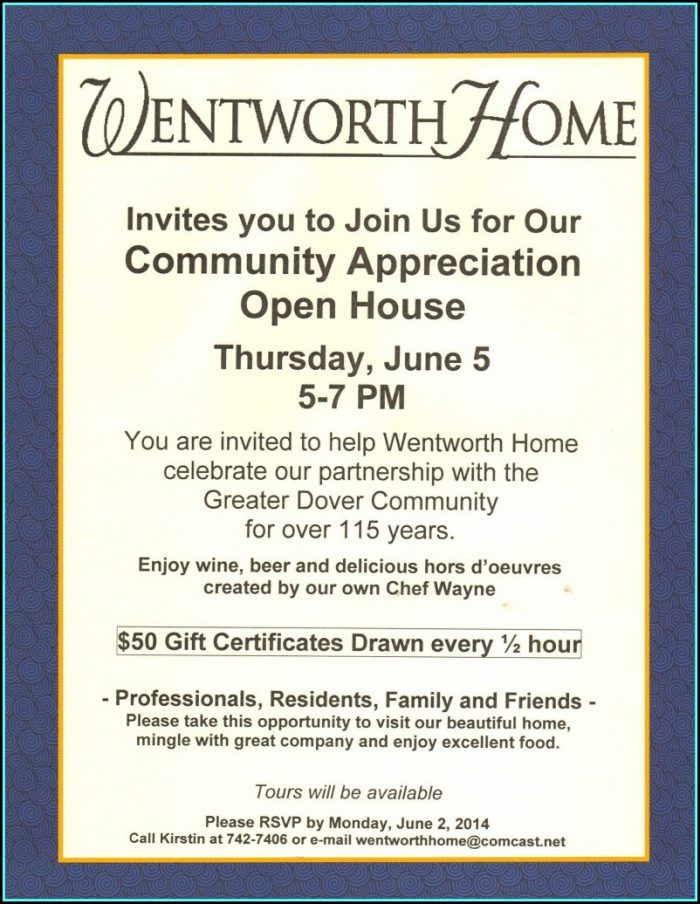 Open House Invitation Template Business