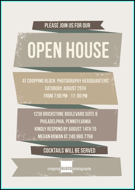 Open House Invitation Wording For Business