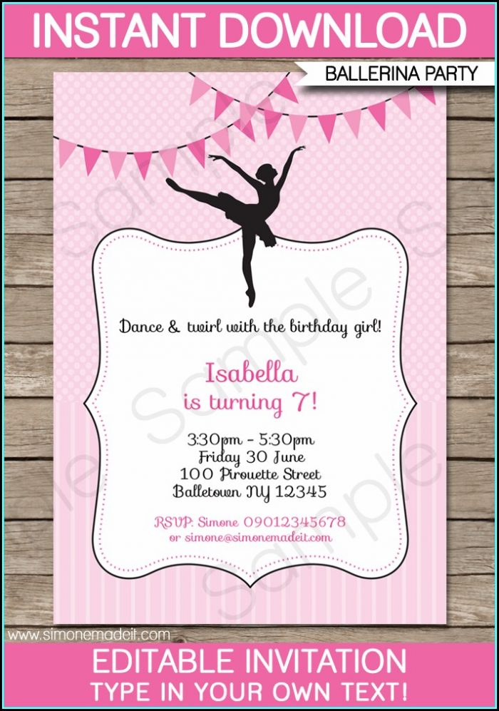 Party Invitation Template Wording