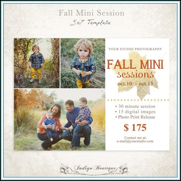 Photography Mini Session Templates Free