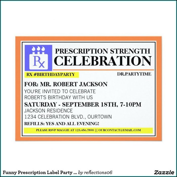 Prescription Bottle Label Template Microsoft Word