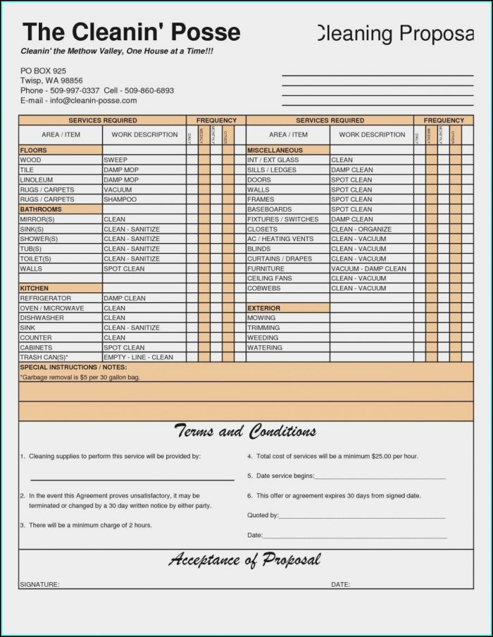 Free Pressure Washing Estimate Forms Form Resume