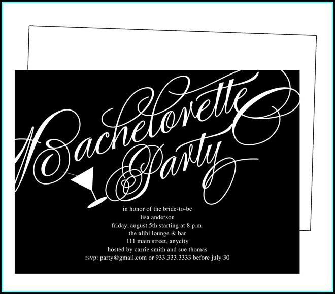 Printable Bachelorette Party Invitations Templates