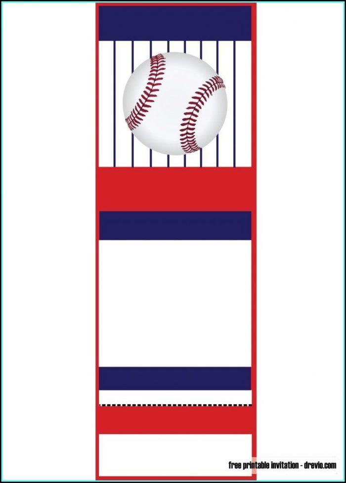 Printable Baseball Ticket Template