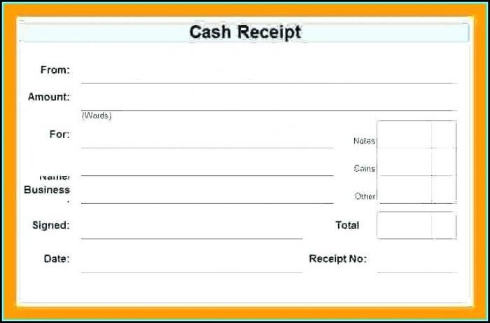Printable Receipt Template India