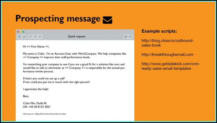 Prospecting Email Template