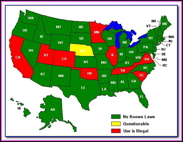 Radar Detector Laws By State Map