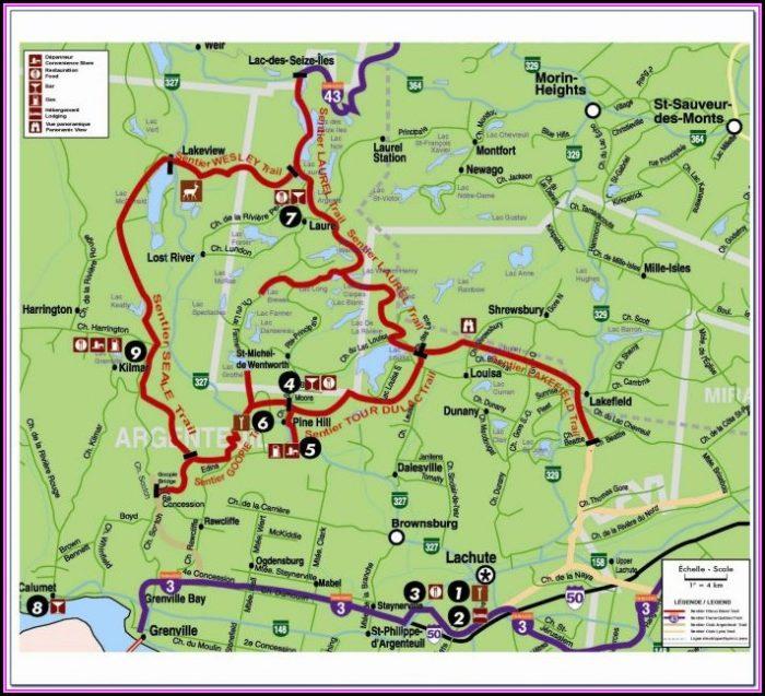 Snowmobile Trail Map Minocqua Wi
