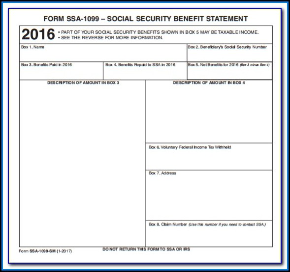 When Are Social Security 1099 Forms Mailed Form Resume