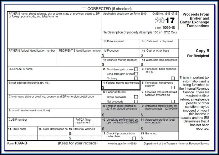 Tax Form 1099 Misc 2017