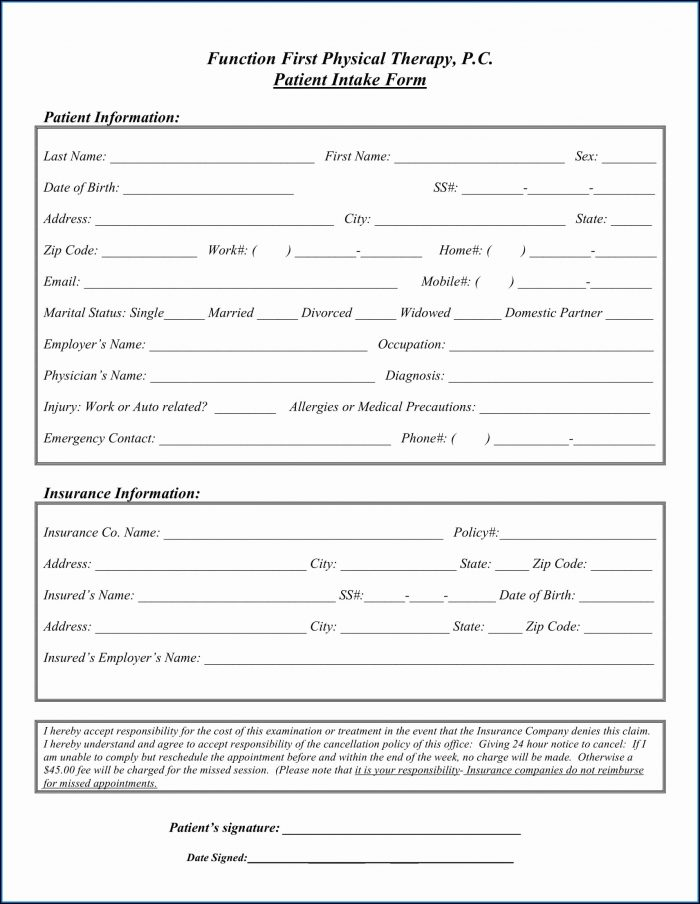 Christian Counseling Intake Form Template Form Resume