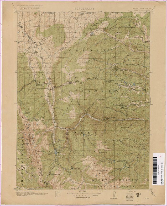 Topographic Maps Colorado