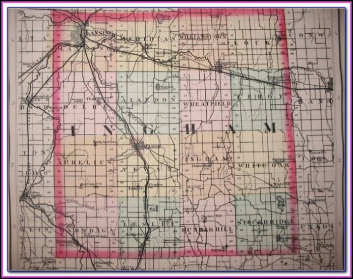 Township Map Of Ingham County Michigan