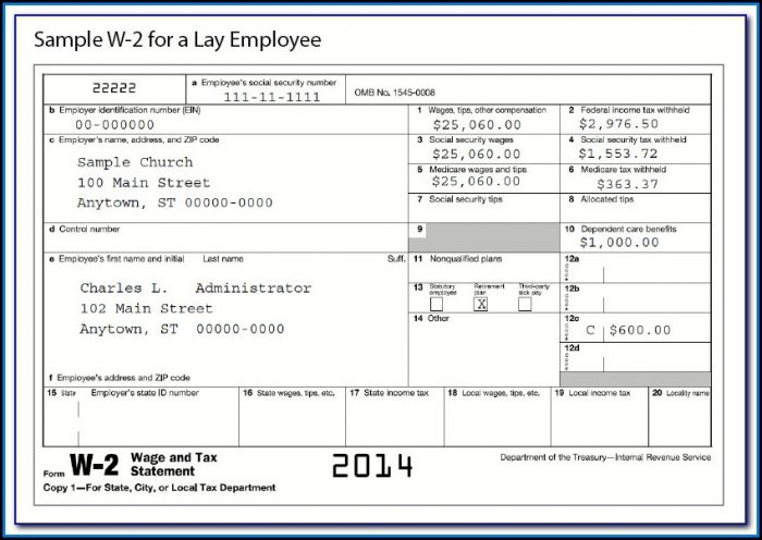 W2 Tax Forms For Employees